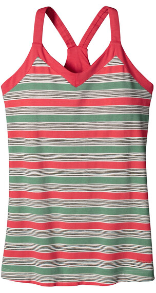 Patagonia W's Hotline Top Waterfront Stripe: Shock Pink